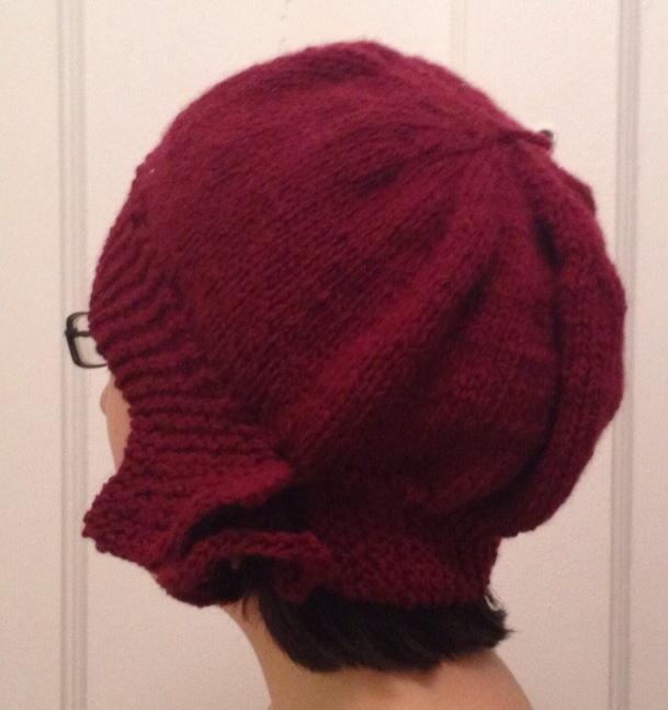 Hand Knit Ruffled Cloche