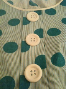 buttons, polka dots, stripes