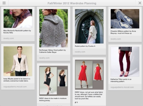 Wardrobe planning, wardrobe, pinterest, clothing, sewing, knitting