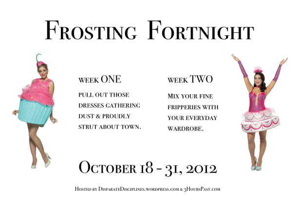 Frosting Fortnight, sewing