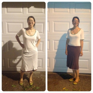 knit skirt, reversible skirt