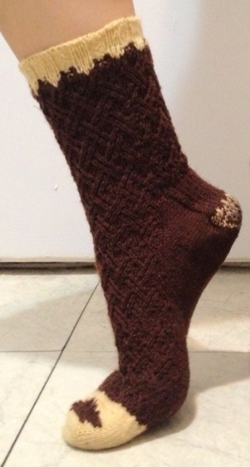 Socks, knitting, hedgehog